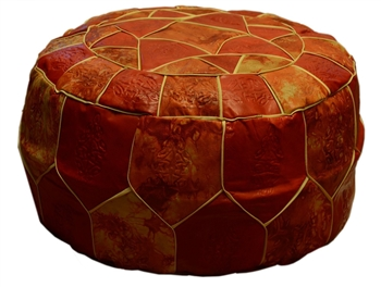 Egyptian Morrocan Handmade Genuine Leather Ottoman Pouf Xl
